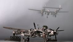 "Lockheed P-38 - lo - ""lightning"" , trumpeter kit, 1:32 scale model"