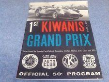 Riverside Raceway Kiwanis Grand Prix Program July 1959