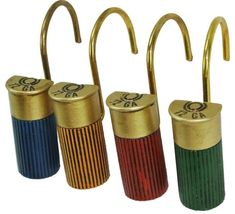 12 Gauge Shotgun Shell Shower Curtain Hooks Rustic Bathroom Decor ** Continue to the product at the image link. Shower Curtain Hooks, Fabric Shower Curtains, Bathroom Shower Curtains, Bedroom Curtains, Rustic Bathroom Shower, Rustic Bathrooms, Elegant Curtains, Rustic Curtains, Bullet Casing Crafts