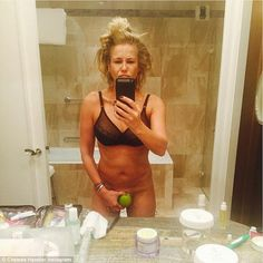 Racy lady: On Wednesday Chelsea shared this risque photo, preserving her modesty with an a...