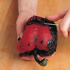 How to peel a capsicum - Four simple steps for peeling capsicums