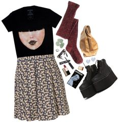 """""""(;¬_¬)"""" by msmcpolly ❤ liked on Polyvore"""