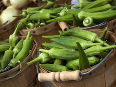 "The Secret History of Okra  by Michael W Twitty on The History Kitchen: ""Related to cotton and other mallow family plants, okra is an ancient vegetable that originated in southern Ethiopia in far antiquity. It provides thickness and savor in the one-pot stews that are the basis of many traditional African diets."""