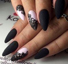 Elegant Nails: 21 Fashionable Inspiration for Beautiful Manicure Black Nail Designs, Short Nail Designs, Acrylic Nail Designs, Nail Art Designs, Elegant Nails, Stylish Nails, Trendy Nails, Fabulous Nails, Perfect Nails