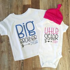 Big Brother Little Sister Outfit / Beanie Optional / by iloveco