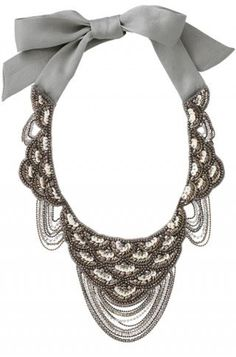 Chain & Sequin Bib Necklace with Bow | Marrakesh Bib Necklace