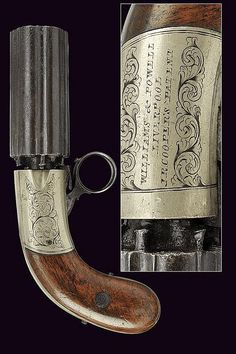 A percussion pepperbox by Williams & Powell, dating: mid-19th Century  provenance: England