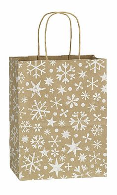 Wintertime Snow Flakes Holiday Shopping Bags - $35.50 for 100
