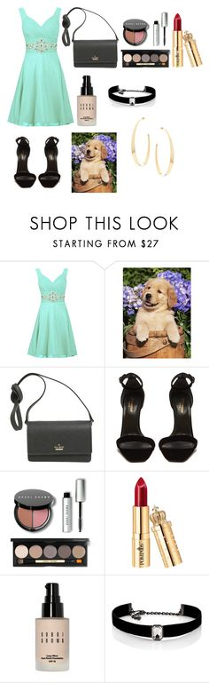 """For a walk with my dog"" by balreen ❤ liked on Polyvore featuring Kate Spade, Yves Saint Laurent, Bobbi Brown Cosmetics, Kenneth Jay Lane and Lana"