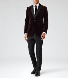 Mens Black Tuxedo Trousers - Reiss Claridge T
