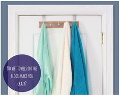 r Bamboo Stainless Steel Towel Door Hooks are a decorative way to keep towels off the floor.