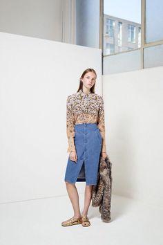 U brand Ladies 100% silk Gradient daisy print women long sleeve shirt  Equipment ladies silk blouses spring autumn