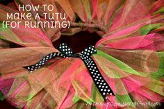 DIY How To Make A Tutu (For Running). Happiness {Redefined} www.myhappinessredefined.com
