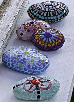 Mosaic Garden Stones