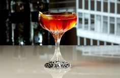 A Mad Men inspired cocktail featuring rum Aperol sweet vermouth and Prosecco. Prosecco Drinks, Alcoholic Drinks, Cocktails, Martinis, Martini Rossi, Cocktail Photography, Food Photography, Bacardi, Getting Drunk