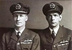 Charles Kingsford Smith with Charles Ulm taken just after their record-breaking trans-Pacific flight, 1928. This would be one of five record-breaking flights Smithy would complete in 1928.