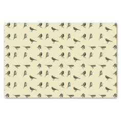 Bird Pattern Tissue Paper