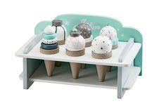 Eiscremehalter mit 6 Eis aus Holz - Kids Concept