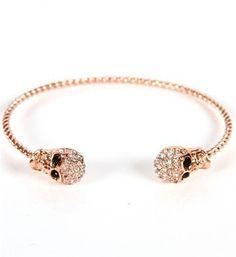 Rose Gold Skull Cuff Bracelet