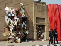 architecture cardboard installations by clemens behr.