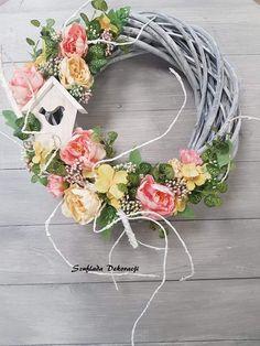 Door Wreaths, Grapevine Wreath, Lanterns, Centerpieces, Floral Wreath, Bouquet, Homemade, Spring, Crafts