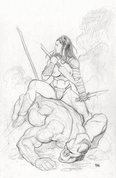 Martian Princess Comic Art