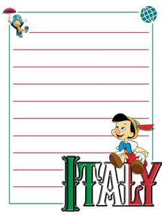 "EPCOT - Italy - Pinocchio - Project Life Journal Card - Scrapbooking. ~~~~~~~~~ Size: 3x4"" @ 300 dpi. This card is **Personal use only - NOT for sale/resale** Logos/clipart belong to Disney. ***Click through to photobucket for more versions of this card with and without characters :) ***"