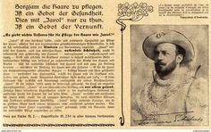 Werbung - Original-Werbung/ Anzeige 1902 - SCHAUSPIELER FRANCISCO D'ANDRADA / JAVOL HAARPFLEGE - ca. 180 x 110 mm