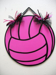 Volleyball Wall Decor. $18.00, via Etsy.