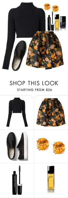 """Untitled #1156"" by mfr-mtz ❤ liked on Polyvore featuring Balmain, MSGM, Marc Jacobs and Chanel"