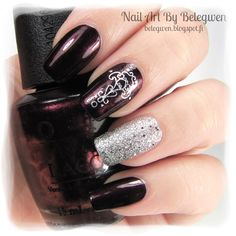 Nail Art by Belegwen: OPI Every Month is Oktoberfest and Depend Silver Mist