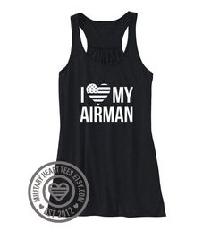 I Love my Airman Tank Top Air Force tank top by MilitaryHeartTees