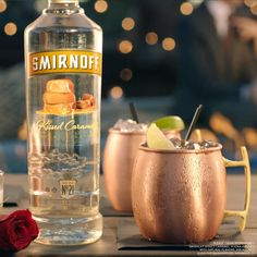 Dominate this #ValentinesDay with an easy and delicious round of Sixty Hues of Caramel. Just mix up 1.50z of Smirnoff Kissed Caramel, 1.5oz Club Soda, 1.5oz Ginger Ale and a Squeeze of Lime.
