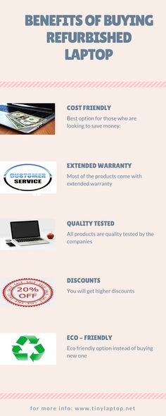 Why you should consider buying refurbished laptop Buying a refurbished laptop is always beneficial to get a better specification for the same price. But there are other benefits as well Refurbished Laptops, Laptops For Sale, Tech, How To Get, Best Deals, Stuff To Buy, Technology