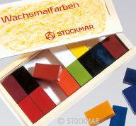 Stockmar Wax Blocks - 16 colours in Wooden Box