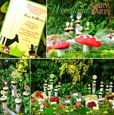 Woodland fairie theme - could use birch tree candles