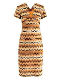 missoni MIS-E-168164 dresses BLACK ORANGE