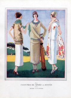 Henry a la Pensée 1924  Les Costumes de Sport, Golf,  Woodruff Porter by Porter Woodruff | Hprints.com
