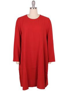 Eileen Fisher Bluesign® Certified Silk A-Line Dress