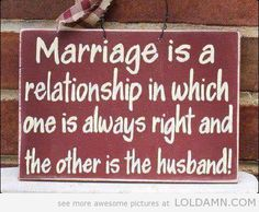Oh, marriage!