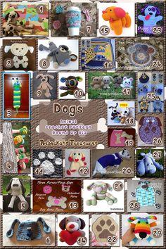 Dogs Part 5 | Animal Crochet Pattern Round Up via @beckastreasures