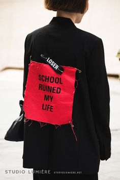 SCHOOL RUINED MY LIFE. BAD EDUCATION collection by Korean designer HYEIN SEO. –> http://instagram.com/hyeinantwerp  Photographed by 알렌 http://www.studiolumiere.net