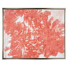 $580 53''W x 43''H Mandarin Coral | Canvas | Art by Type | Art | Z Gallerie