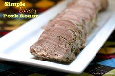 Simple Savory Pork Roast | Country Girl Gourmet