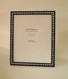 Hey, I found this really awesome Etsy listing at https://www.etsy.com/listing/161408843/black-bling-8-x-10-picture-frame-black-w