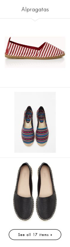 """""""Alpragatas"""" by paradapermitida on Polyvore featuring shoes, striped espadrilles, striped shoes, cushioned shoes, party shoes, round cap, sandals, tribal sandals, platform espadrilles e forever 21"""