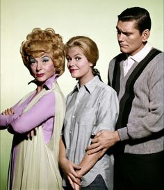 "The crazy, lovable trio from Bewitched! Agnes Moorehead, Elizabeth Montgomery and Richard Allen ""Dick"" York!"