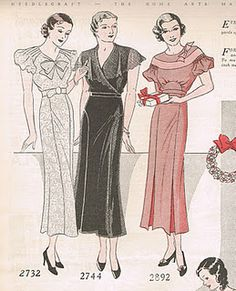 1930s holiday dresses