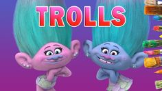 Satin and Chenille Trolls Movie - Kids Coloring Book | Coloring Pages fo...