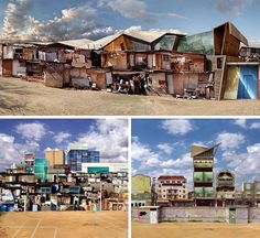 Photographic collages : shanty towns of Sao Paolo and Rio de Janeiro, Brazil, artist Dionisio Gonzalez.